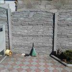 Забор железобетонный серый
