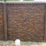 Забор бетон коричневый