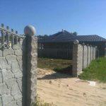 забор с декоративными столбиками
