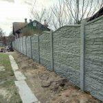 железобетонный забор для дачи